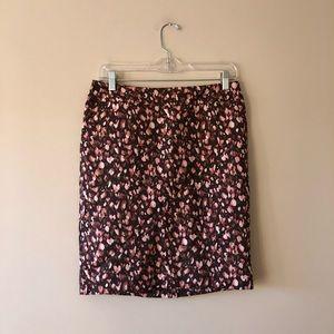 Merona printed pencil skirt